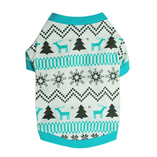 Puppy Clothes,Neartime Doggy Outfit Printed Snow Fawn Interlock Christmas Pet Shirt (M) (Pumpkin Outfit For Dogs)