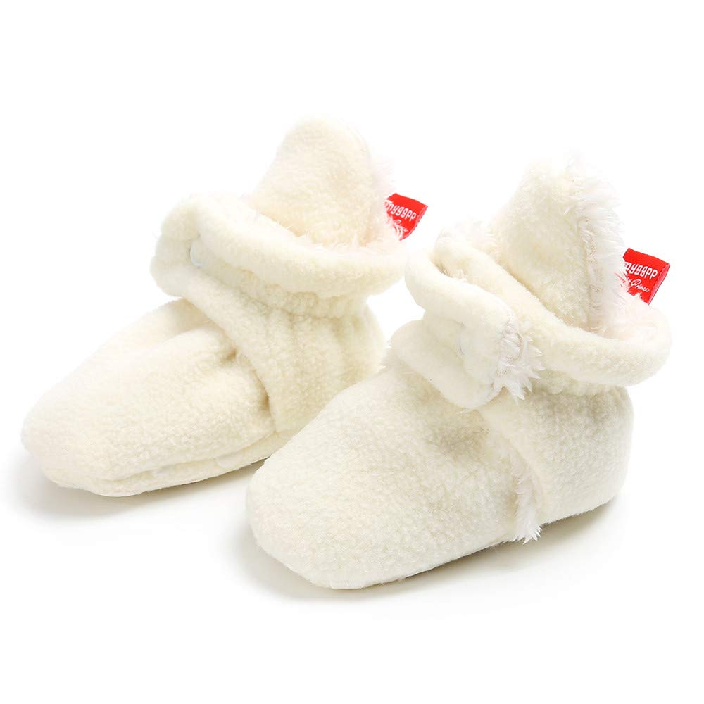 Baby Girls Boys Canvas Shoes Soft Sole Toddler First Walker Infant Newborn High-Top Ankle Sneakers Crib Snow Shoes 0-18Months