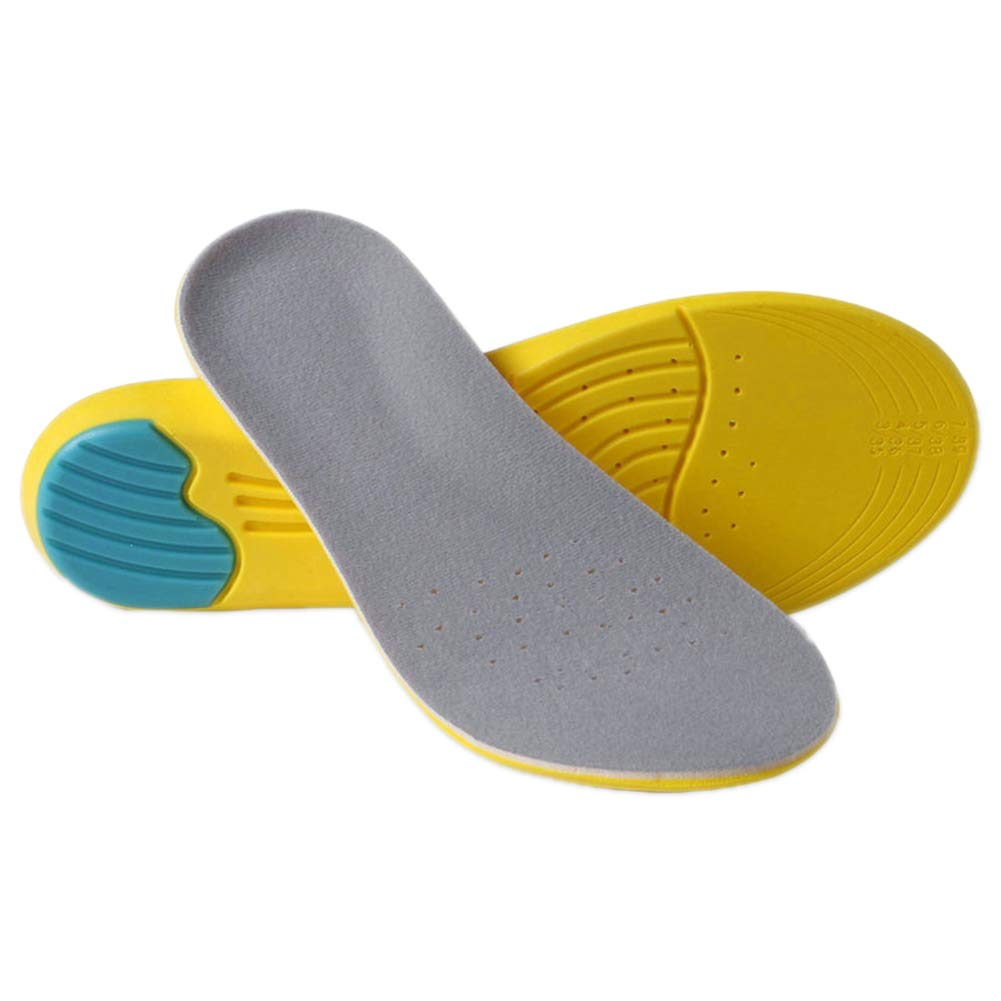 Yonger Foot Insole Relieve Plantar Fasciitis Insole Comfortable Orthotics Breathable Insole Soft High Arch Sports Cushioning Insole for Women and Men 22.5-25 cm