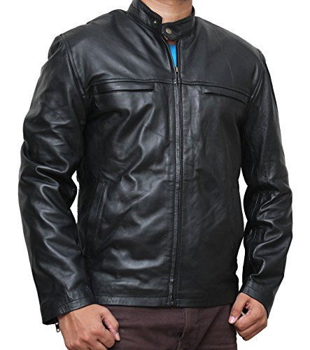Black Motorcycle Leather - Need for Speed Jacket