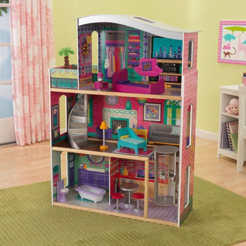 Kidkraft Glitz And Glamour Suite Girls Wood Pretend Play Dollhouse W Furniture 65086 Toy In