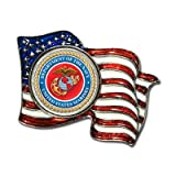 Armed Forces Colorized Quarter Flag Pin Color: Marines