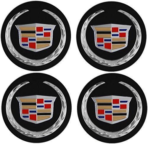 Tire Valve Stem Caps Cover for Cadillac+Cadillac Keychain 9pcs,65mm Cadillac Emblem Badge Sticker Wheel Hub Caps Centre Cover