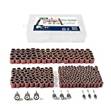 338pcs Sanding Drum Kit with Free Box fits Dremel Includes Rubber Drum Mandrels - 1/2, 3/8 & 1/4''#21-MST