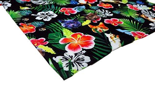 d0df3622d Funny Guy Mugs Mens Cat Hawaiian Print Button Down Short Sleeve Shirt,  2X-Large