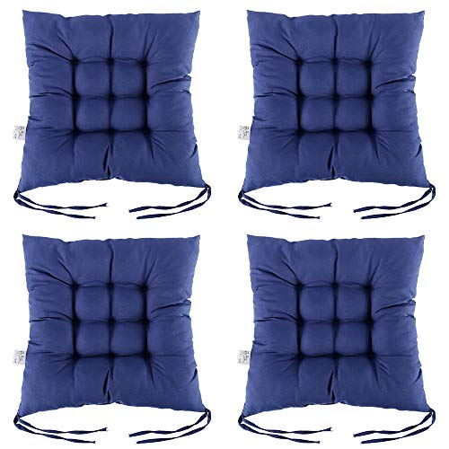 Pearl Office Chair - Scorpiuse 4 PCS Non-Slip Chair Pads with Ties 15