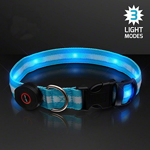 Price comparison product image blinkee LED Blue Flashing Striped Dog Collar by