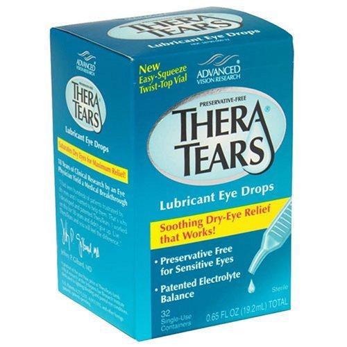 Gouttes TheraTears oculaires lubrifiantes, récipients à usage unique - 32 ch, Lot de 2