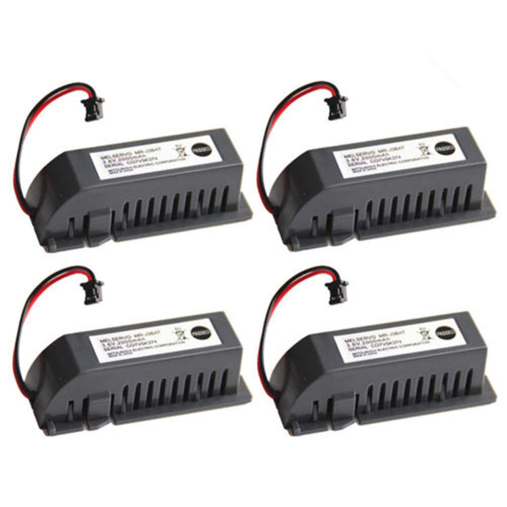 MR-J3BAT PLC Battery 3.6V 2000mAh Replacement Battery for Mitsubishi ER6VC119A/B MELSERVO MR70 (4 Pack) by MIFXIN