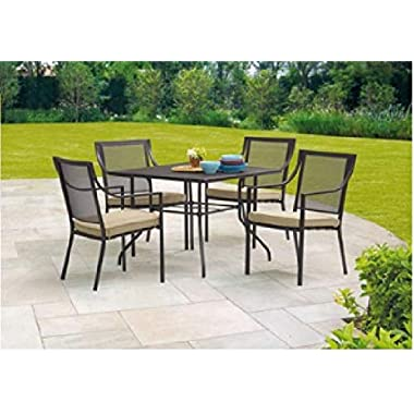 Mainstays Bellingham Outdoor 5-Piece Patio Furniture Dining Set, Seats 4