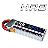 HRB 3S 11.1V 6000mAh 50C RC LiPo Battery Pack with XT60 plug For RC Helicopter RC Airplane RC Hobby