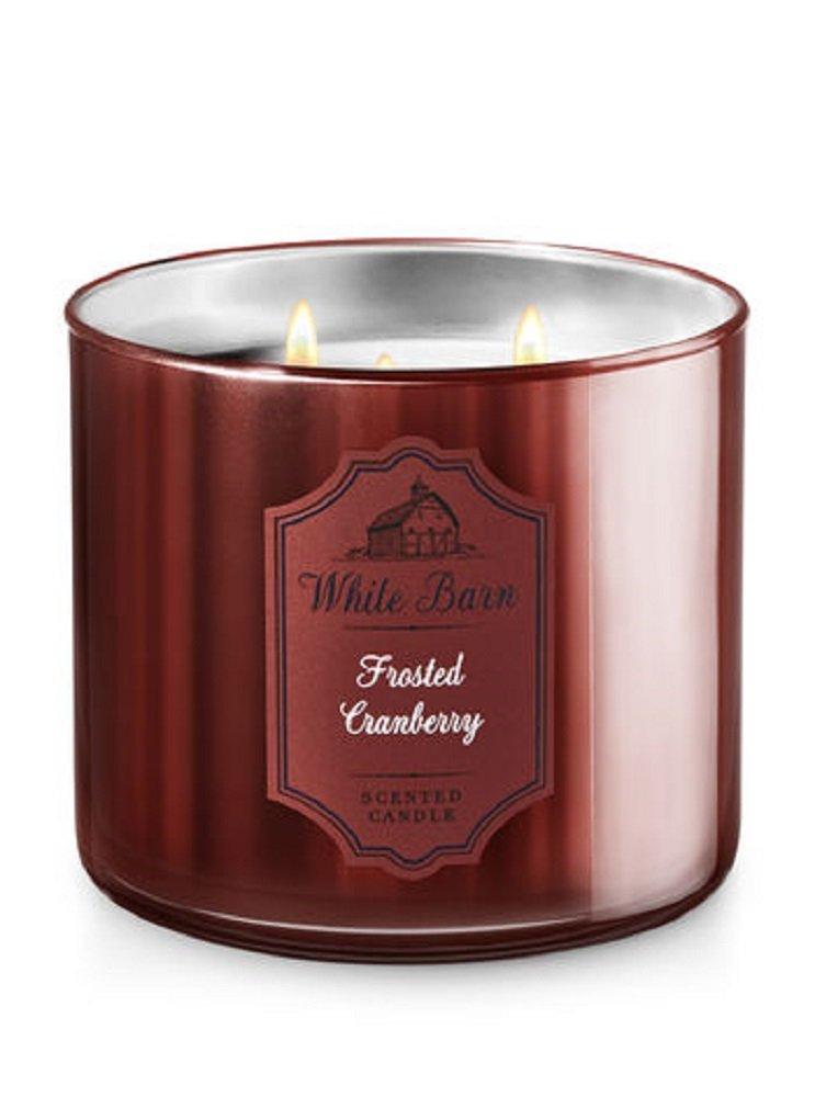 【激安大特価!】  Bath & Body Candle Works 3-wick Candle in & Frosted Cranberry in B077YQD4RB, Warmth:caf4d930 --- egreensolutions.ca