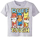 Paw Patrol Little Boys' Toddler Short Sleeve T-Shirt, Heather Grey, 3T