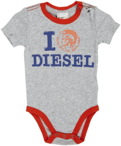 Diesel Baby Boys' Ulinu Short Sleeve Bodysuit Screen