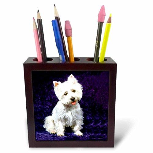 (Dogs West Highland Terrier - Westie - 5 inch tile pen holder (ph_608_1))