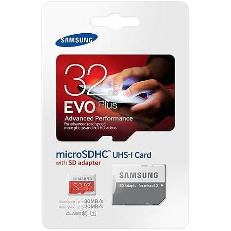 Samsung Evo Plus 32 GB MicroSD HC Clase 10 UHS-1 funda para ...