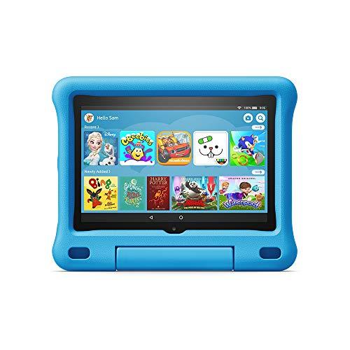All-new Fire HD 8 Kids Edition tablet   8″ HD display, 32 GB, Blue Kid-Proof Case