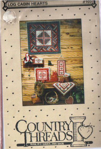 Log Cabin Hearts 103 By Country Threads Five-project Sewing Quilting Pattern