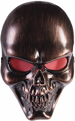 Forum Novelties 75373 Skull Adult Face Mask, One Size, Bronze]()