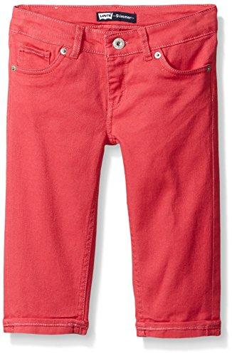 Levi's Girls' Susie Skimmers,Claret Red, 12