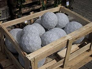 Golfball aus hellem Granit 27 cm Durchmesser - Granitkugel Ball