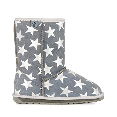 EMU Australia Kids Starry Night Deluxe Wool Boots Size 10 Charcoal
