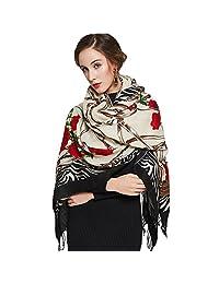 DANA XU Women's Large Traditional Cultural Wear Pashmina Scarf
