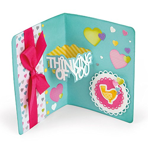 Sizzix Thin - Sizzix 661129 Thinking of You 3-D Drop-Ins Sentiment Thinlits Die Set by Stephanie Barnard (14/Pack)
