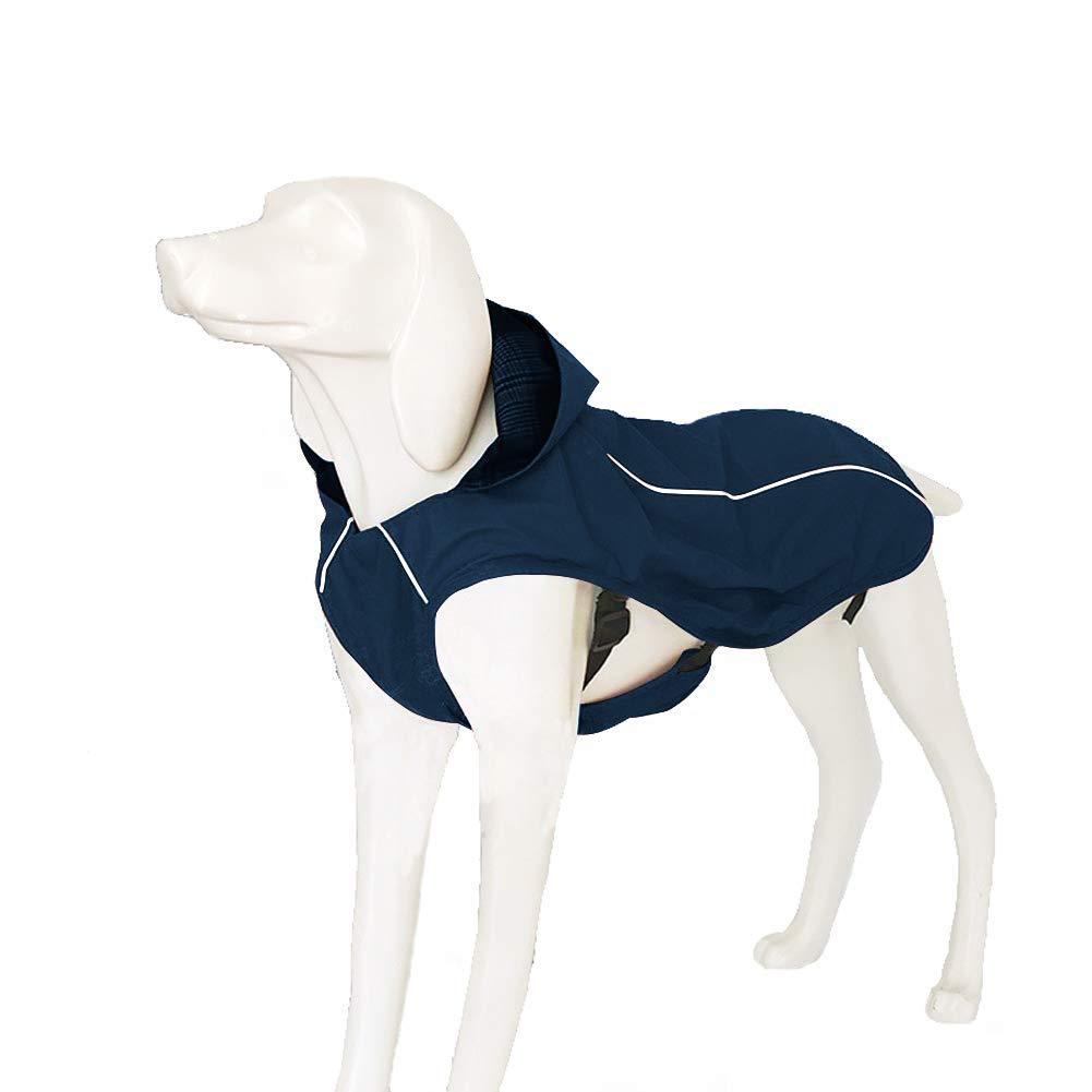 OSPet Dog Raincoat Waterproof Windproof Lightweight Dog Coat Jacket Reflective Rain Jacket with Hood Vest Harness for Small Medium Large Dogs