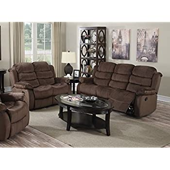 furniture beige chocolate short plush reclining sofa set with recliners and loveseat under 600 clearance up