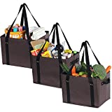 ATBAY Reusable Grocery Bags Heavy Duty Shopping Box Collapsible Extra Large For Gift Basket Bags(3 Pack)