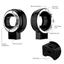 SLFC Auto Focus EF-NEX EF-EMOUNT Lens Mount Adapter for Canon EF EF-S Lens to all Sony E Mount camera NEX 3/3N/5N/5R/7/A5000 /A6000/A7 A7R /A7II /A7RII