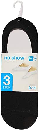 TOO TOP 3 PAIR NO SHOW SOCKS-UNISEX