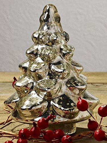 Market Street Mercury Glass Fir Christmas Tree (Chipping Christmas Trees)