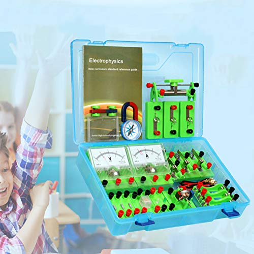 bromrefulgenc Science Experiment Intelligence Toy for Kids,Physics Labs Electricity Circuit Magnetism Experiment Kit for Junior High School (Set Science Electromagnet)