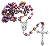 Westman Works Rosary Bulk Lot Red Acrylic Faceted Rosaries for Students Classroom Set, 10 Pack