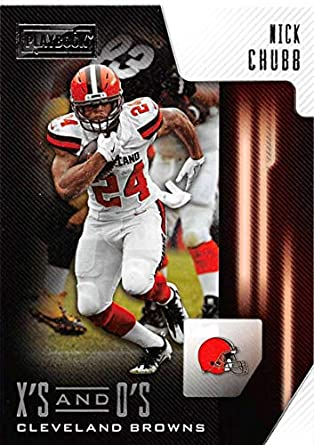 2018 Panini Playbook Xs and Os  8 Nick Chubb Cleveland Browns RC Rookie NFL  Football 3ac6fd002