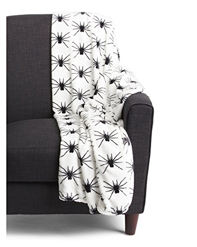 Halloween Spiders Throw Blanket
