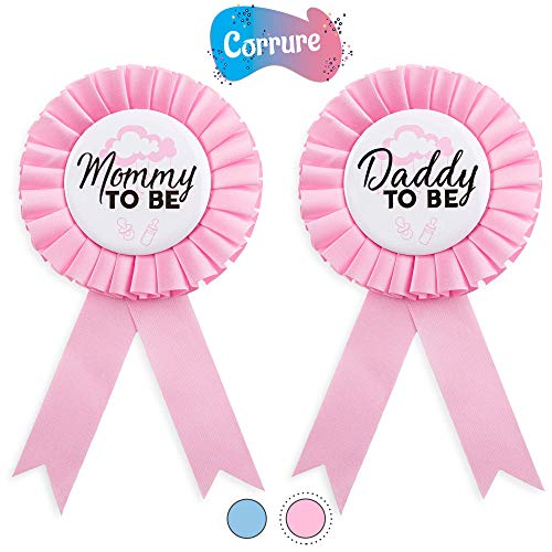 CORRURE Baby Shower Button Pins -