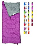 REVALCAMP Lightweight Violet/Purple Sleeping Bag Indoor & Outdoor use. Great Kids, Youth & Adults. Ultralight Compact Bags are Perfect Hiking, Backpacking, Camping & Travel.
