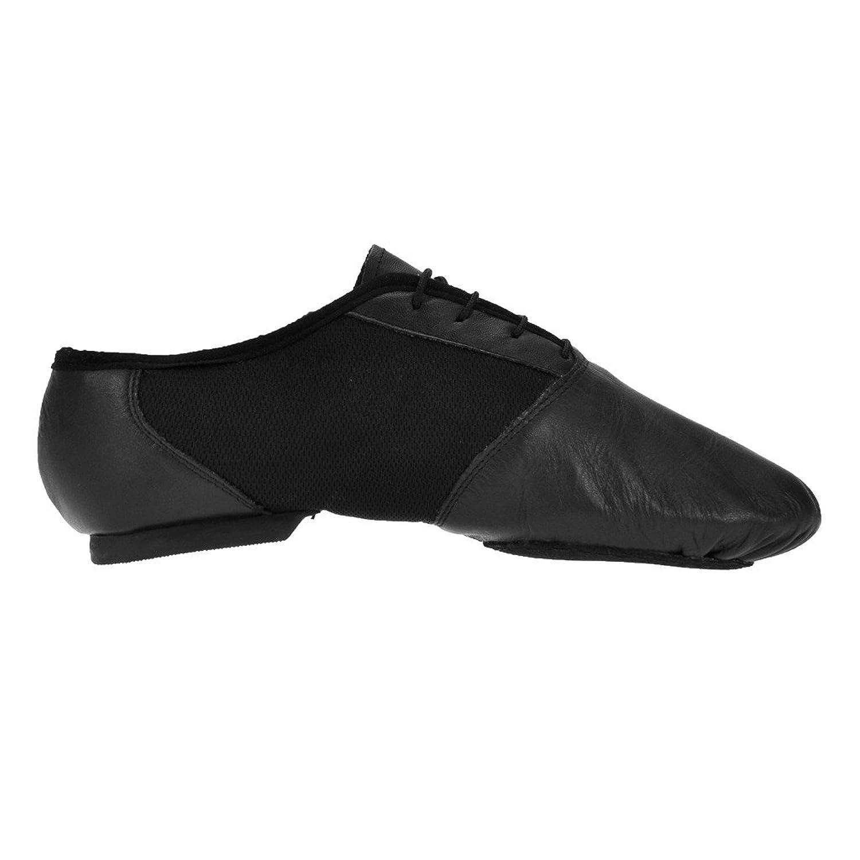 Starlite - Zapatillas de danza de cuero para mujer, Negro, 6 UK