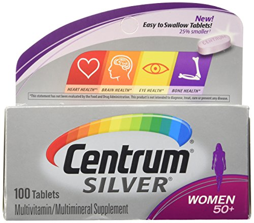Senior Formula 100 Tablets - Centrum Silver Women (100 Count) Multivitamin/Multimineral Supplement Tablet, Vitamin D3, Age 50+