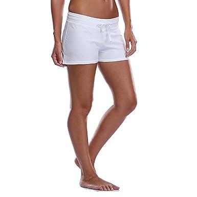 Imixcity Femme Réglable Shorts de Bain Drawstring Swim Shorts Beachwear  pour l  Yoga d928637f7aa