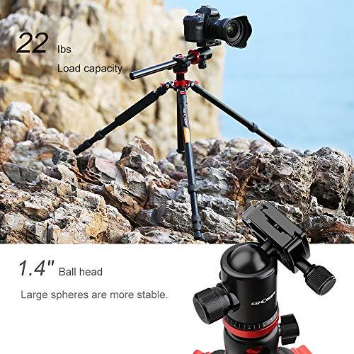K&F Concept TM2534T DSLR Camera Tripod 66 Inch Portable Magnesium Aluminium Monopod 4 Section Professional Tripods with… 4