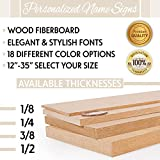 """Personalized Wood Fiberboard Painted Name Sign 12"""", 17"""", 23"""", 35"""" Wide Options Custom Baby Name Sign for Nursery Décor"""