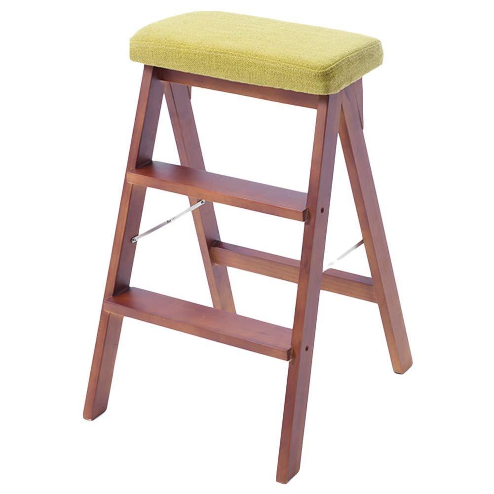 NEVY- ステップスツール キッチン ステップ 木製 ラダー 家庭 三段階 折りたたみ梯子 多目的 兼用 クライミング 階段スツール (色 : A) B07RXYHM9G A