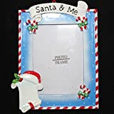 Santa and Me Photo Frame Personalized Christmas Tree Ornament by Polar X
