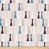 Cloud 9 Organic Sow & Sew Pea Sticks Fabric by the Yard, Blue/Gray