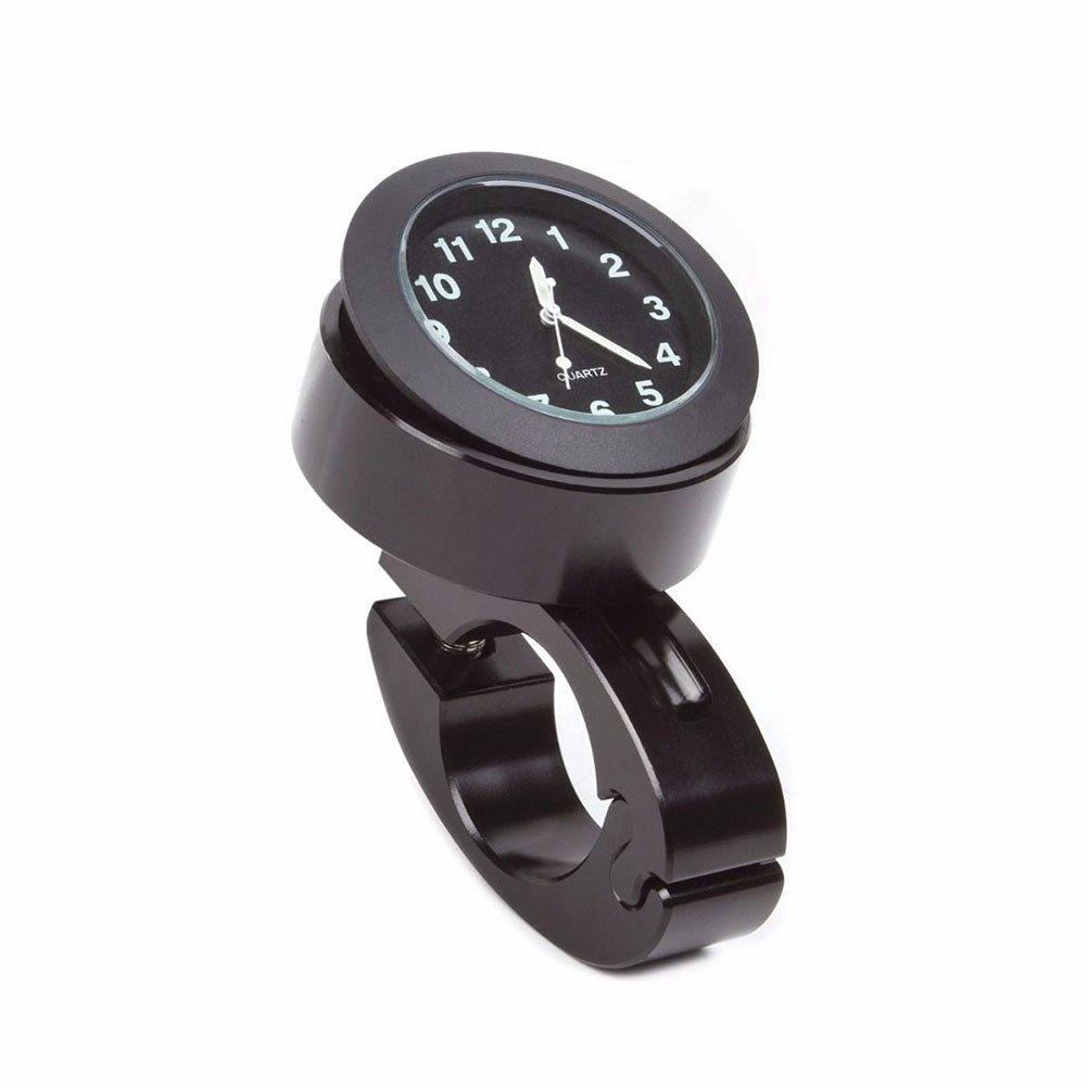 WINOMO Guidon Mount Numérique Horloge Moto Accessoire Imperméable à l'eau 7/8' (Noir)