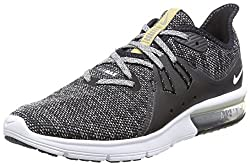 Nike Air Max Sequent 3 Size 10 Mens Running Blackwhite-dark Grey Shoes